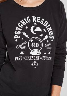 ModCloth Psychic Readings Graphic Sweatshirt Black | ModCloth