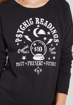 ModCloth Psychic Readings Graphic Sweatshirt Black | ModCloth