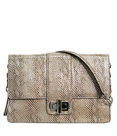 B Makowsky Exotic SnakeEmbossed Harlow Clutch #Dillards