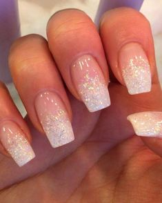 glitter nails 25 Fantastic Pink Nail Designs Glitter Color Combinations 14 Is An Electric Fireplace Glitter Fade Nails, Nail Design Glitter, Faded Nails, Pink Nail Designs, Glitter Nail Art, Pink Nails, Gel Nails, Glitter French Manicure, White Sparkle Nails