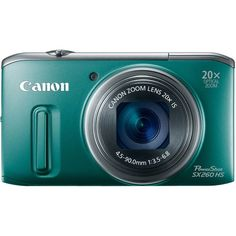 Canon PowerShot SX260 HS 12.1 MP CMOS Digital Camera with 20x Image Stabilized Zoom 25mm Wide-Angle Lens and 1080p Full-HD Video (Green):Ama...
