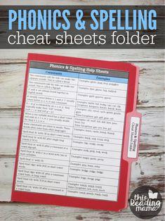 Phonics Cheat Sheets Folder - This Reading Mama