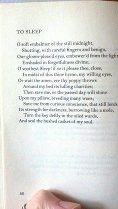 to-sleep-john-keats