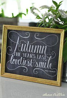 Autumn Smile 11x14 Chalkboard Print