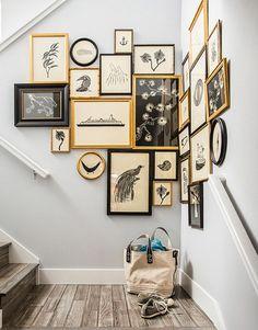corner stair gallery wall