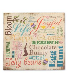 Love this 'Happy Easter' Plaque by Your Heart's Delight on #zulily! #zulilyfinds