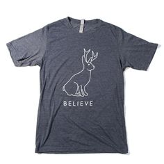 Believe In The Jackalope Men's T-shirt from Texas Humor Store