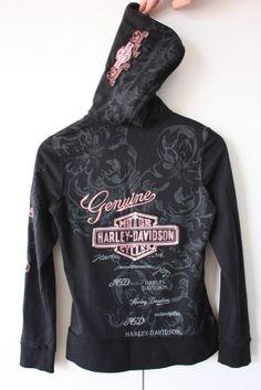 harley davidson attire for women | Harley Davidson ZIP UP Hoodie Ladies Size 8 | eBay