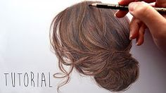 coloring hair with colored pencils - YouTube