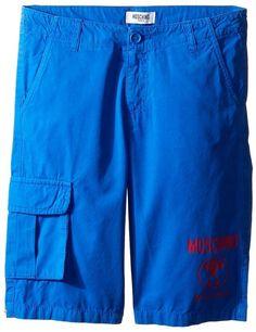 Moschino Kids Shorts w/ Side Pocket & Logo Detail (Big Kids)