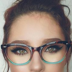 "Cat Eye Vintage Retro ""Ombre""  Women Eyeglasses Cut Off Lenses Semi Rimless #FashionDeals"