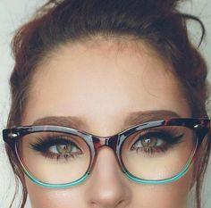 "Cat Eye Vintage Retro ""Ombre""  Women Eyeglasses Cut Off Lenses Semi Rimless #FashionDeals"