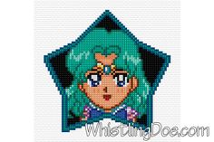 Super Sailor Neptune Cross Stitch Pattern