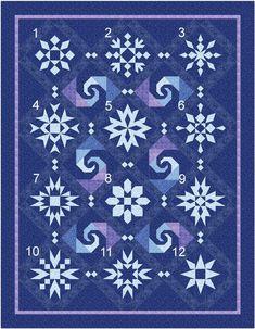 New Quilt Pattern Snow Stormy Night Blocks