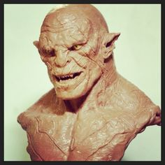 Cyril Roquelaine; Azog bust; The Creature Spot: A Home For Creature Art