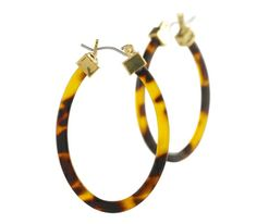 Large Tortoise Hoop Earrings | Ralph Lauren