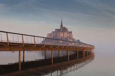 Mont Saint Michel Aérienne passerelle