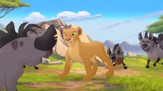 Here is a shot of Nala from The Lion Guard. Nala is mostly passive in this series, yet she decides to take action toward Janja and his hyena clan. The Lion Guard 2 Lion King Series, The Lion King 1994, Lion King Art, Lion Art, Le Roi Lion, Walt Disney Pictures, Disney Lion King, Aesthetic Pastel Wallpaper, Iconic Movies