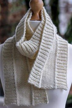 Nice and Neutral Scarf | A beautiful knit scarf you can wear anywhere and everywhere this winter.