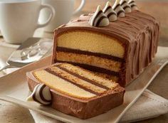 Delight your mother and family guests with HERSHEY'S HUGS & KISSES Pound Cake Torte!
