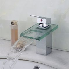 Sumptuous Reasonable in Price New Glass Waterfall Faucet Bathroom Single Handle Basin Sink Vessel Vanity Chrome Brass Mixer Tap