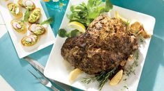 A leg of lamb marinated in an herb-and-garlic paste and oven-roasted makes a handsome centerpiece for your Easter table. Look for bone-in meat, often labeled semi-boneless because it's been trimmed and prepared for easy roasting and carving. Plan on marinating it for several hours or overnight.