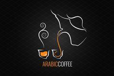 arabic coffee logo design background - Logos - 1