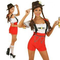 Lederhosen Beer Maid Oktoberfest Costume
