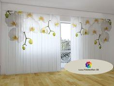 Schiebegardine Fotogardine  Orchidee  Vorhang in Fotodruck 3D. Maßanfertigung.