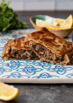 Turkish Flat Bread, Indian Flat Bread, Gozleme Recipe, Portable Food, Ground Lamb, Spinach And Feta, Light Recipes, Street Food, Main Dishes