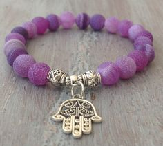 Hamsa Bracelet Boho Beaded Bracelet Hamsa Hand by indietiez