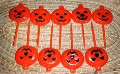 Vintage Jack O Lantern Picks,Halloween Cupcake Topper,Cake Toppers,Jack O Lantern,Pumpkin Picks,Halloween Picks,Orange,Pumpkin,Kitsch by JunkYardBlonde on Etsy