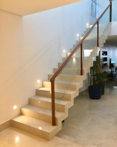 Much more than just a structural element which ensures the safety of the residents, check dozens of glass guardrails ideas for inspiration. Staircase Design Modern, Staircase Railing Design, Balcony Railing Design, Home Stairs Design, House Gate Design, Modern Stairs, Bungalow House Design, Door Design, Interior Staircase