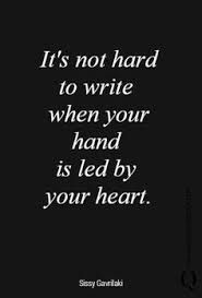 Image result for writing from your heart