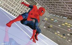 Spiderman Gif, Spiderman Suits, Amazing Spiderman, Marvel Art, Marvel Heroes, Comic Books Art, Comic Art, Book Art, Jumping Poses