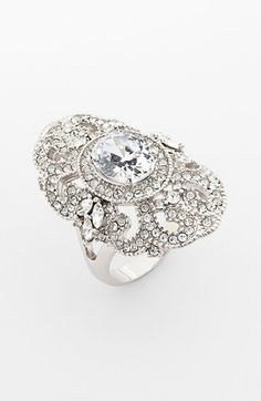 Ariella Collection Pavé Cocktail Ring | Nordstrom (but let's pretend it's more expensive)