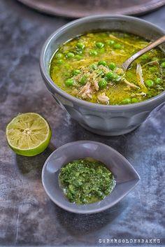 Agaudito peruano - quinoa, pollo y sopa de cilantro