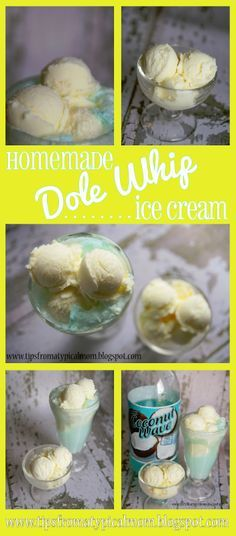 Tips from a Typical Mom: {Dole Whip Copy Cat} Pineapple Homemade Ice Cream. I've never had this, but it sounds good. Gotta try it.