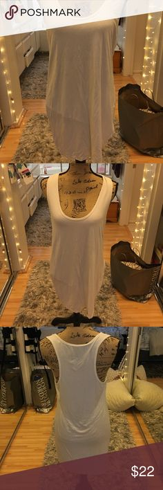 Coverup Dress White medium tank to razor back coverup dress. Excellent condition...no stains or holes. Spandex soft cotton material. Made by 14 fifty seven 14 fifty seven Dresses