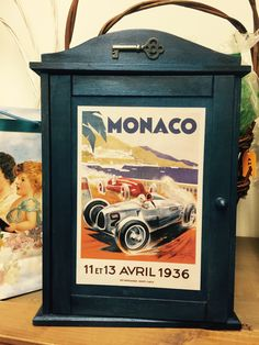 Key cabinet, Monaco, DIY Key Cabinet, Monaco, Decoupage, Diy, Bricolage, Do It Yourself, Homemade, Diys, Crafting