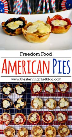 The Starving Chef | Few foods are more American than pie - and this trio will have you seeing red, white, and blue! Each filling is just a few basic ingredients that can be found in most kitchens across the USA.