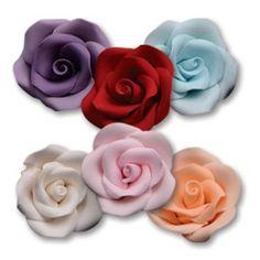 "NY Cake Icing Roses - Red - 1¾"" - 6 pcs Golda's Kitchen Cake Icing, Sugar Flowers, Red Roses, Kitchen, Cooking, Kitchens, Cuisine, Cucina"