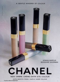 Found in Mom's Basement: Vintage Cosmetics/Perfume/Toiletries Advertising - Chanel Cosmetics - Ideas of Chanel Cosmetics Trending Chanel Cosmetics - Found in Mom's Basement: Vintage Cosmetics/Perfume/Toiletries Advertising Vintage Chanel, Vintage Makeup, Vintage Beauty, Vintage Ads, Chanel Beauty, Chanel Makeup, Coco Chanel, Chanel Creme, Eyeshadow Base