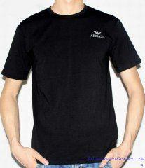 T-shirt à Manches Courtes Giorgio Armani Homme Moins Cher Noir