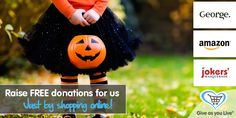 Get all your spooky Halloween essentials with Give as You Live and raise funds for us!