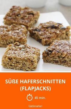 Süße Haferschnitten (Flapjacks) - smarter - Zeit: 45 Min. | eatsmarter.de