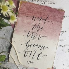 Watercolor Wedding Sign   Maroon Wedding   The Two Become One   Calligraphy