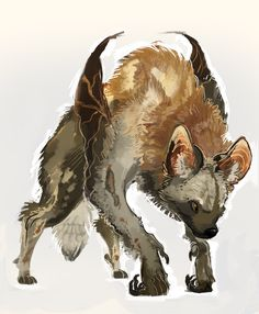 I really wanted to try painting fur BUT I CANNOT…i do not understand you, Sai. This is a wild african dog bat thing yeh..