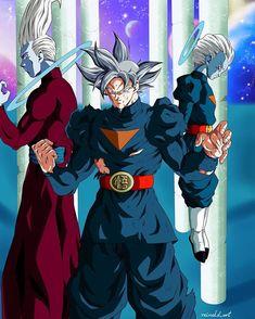Whiz, Goku y Daishinkan Dragon Ball Z, Dragon Ball Image, Anime Couples Manga, Cute Anime Couples, Anime Girls, Daishinkan Sama, Anime Dragon, Image 3d, Son Goku
