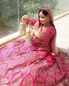 Anand Karaj, Bridal Looks, Bright Pink, That Look, Aurora Sleeping Beauty, Sari, Bride, Disney Princess, Disney Characters